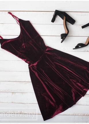 Бархатное платье boohoo