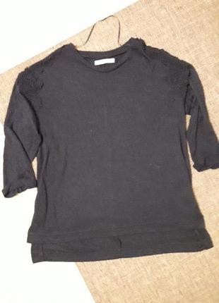 Оверсайз кофточка  свитер с вышивкой размерs