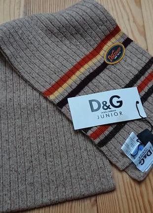 Шерстяной шарф от d&g junior
