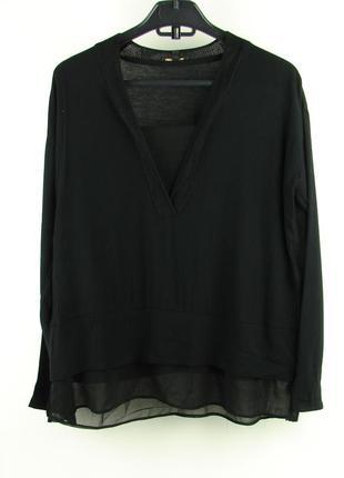 Черная блуза massimo dutti
