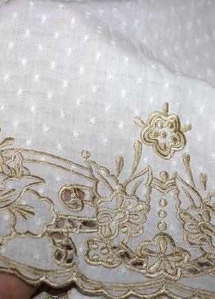 Белоснежное платье - золотая вышивка4