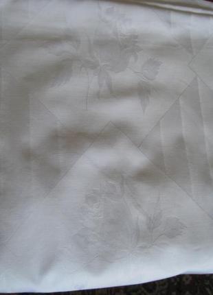 Пододеяльник белый жаккардовый с атласным рисунком