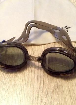 Очки для плавания+шапочка для бассейна