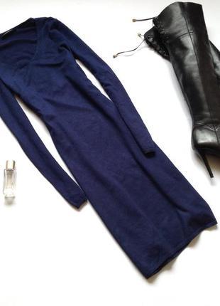 Темно-синее базовое трикотажное платье esprit. смотрите мои объявления!