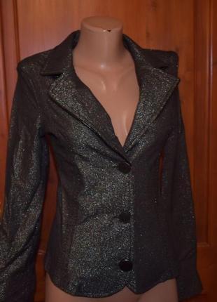 Пиджак, жакет новый, нарядный xs 36-й р-р