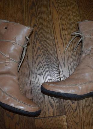 Зимние кожаные сапоги josef seibel, размер 40, стелька 26,8см
