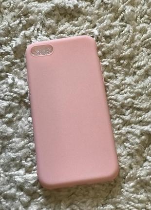Новый классный матовый чехол iphone 7 iphone  8 розовый пудра