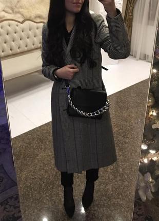 Пальто stradivarius, 60% шерсть