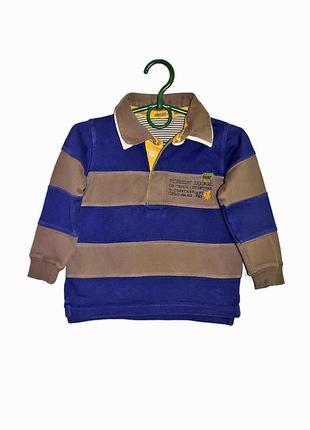 Кофта рубашка поло с длинным рукавом m&s на мальчика 2-3 года