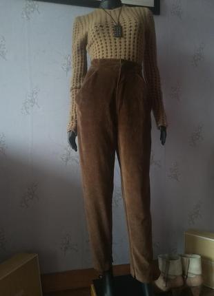 Крутые плюшевые брюки с карманами. италия.