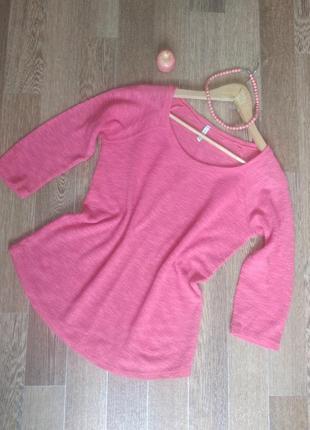 Нежный розовый меланжевый джемпер