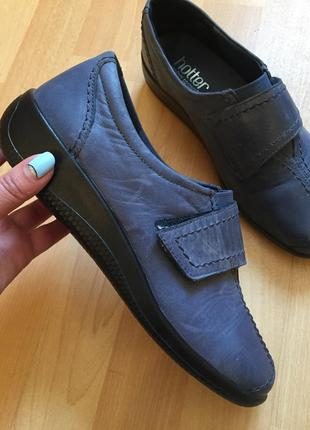 Кожаные туфли ботинки hotter