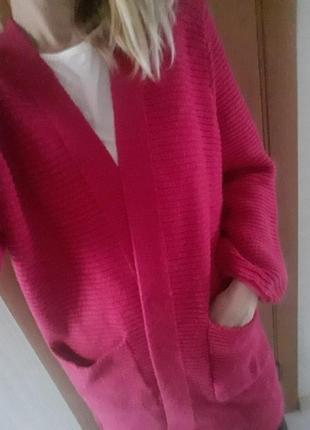 Тепленький фирменный кардиган, накидка, свитер