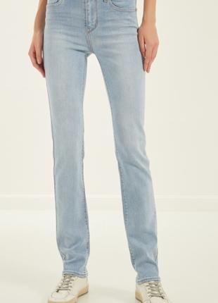 Суперовые стрейчевые классические джинсы высокая посадка george