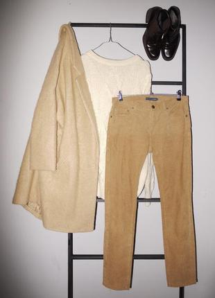 Брюки джинсы вельветовые ralph lauren светло коричневые узкие