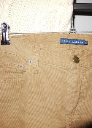 Брюки джинсы вельветовые ralph lauren светло коричневые узкие3