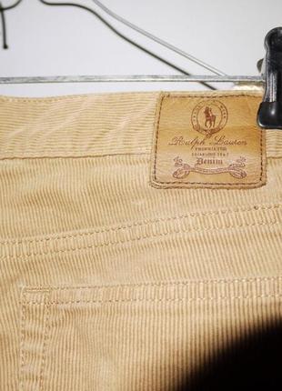 Брюки джинсы вельветовые ralph lauren светло коричневые узкие4