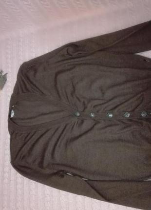Мужская шерстяная (100% merino wool) кофта van gils, р.m/l