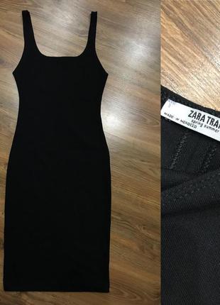 Красивое платье миди zara s новая коллекция