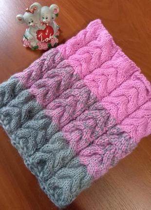 Великолепный шарф-снуд в один оборот