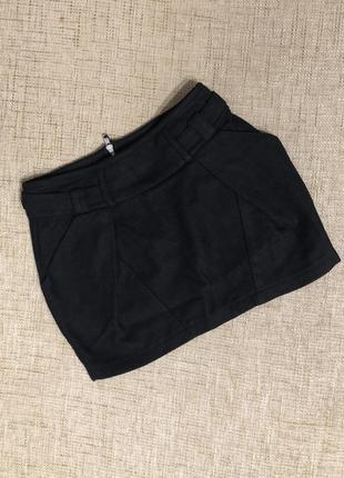 Шерстяная тёплая юбка