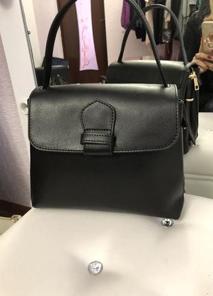 Практичная женская сумка, кожа сафьяно