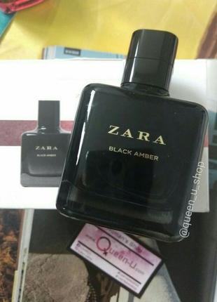 Zara black amber 100ml супер цена! густой, стойкий аромат! оригинал, испания!