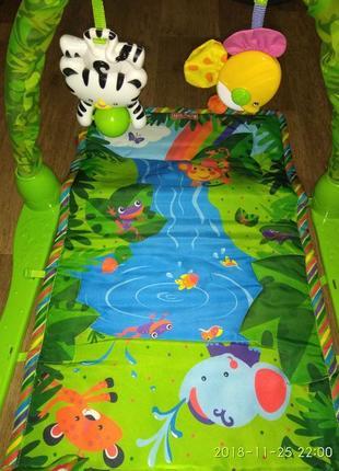 Детский развивающий коврик тропики bambi