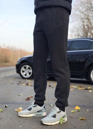 (s, m, l, xl, xxl) зимние мужские штаны на манжетах от производителя. цвет серый