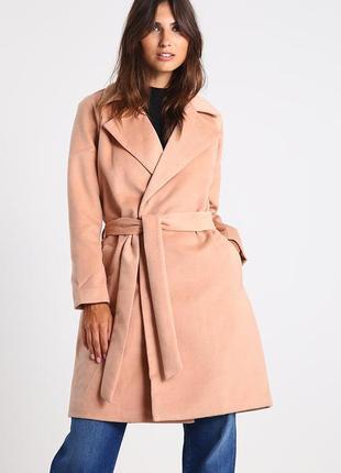 Стильное красивое пальто цвета camel от saint tropez, 40-l р-р