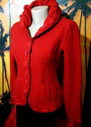 100% шерсть супер теплая кофта в винтажном стиле