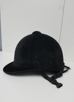Велюровый шлем детский для конного спорта верховой жокея