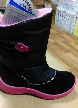 Зимние мембранные сапожки 27 р floare kapika, замш, шерсть, сапоги, капика, ботинки