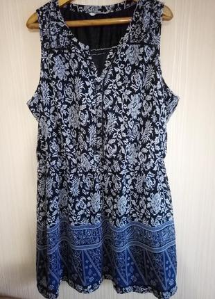 Красивое платье миди 56 размера