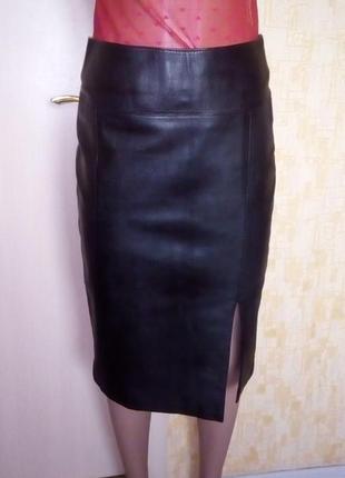 Шикарная юбка-карандаш из 100 % кожи/юбка кожаная/юбка/кожаная юбка