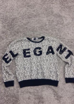 Модный свитер с паетками