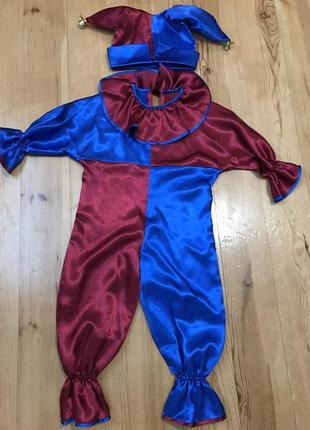 Новогодний костюм, наряд для мальчика «петрушка»