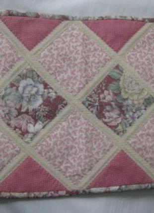 Дорожка для сервировки стола розовая с рисунком