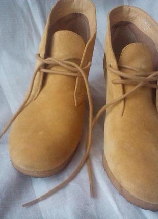 Ботинки, ботильоны замша натуральная