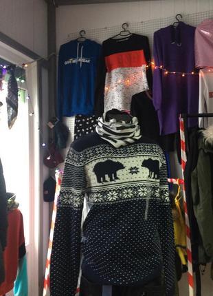 Новогодний мужской свитер ,м,с&а