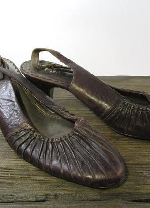 Босоножки стильные gabor, 5 (38, 24.5 см), коричневые, отл сост!