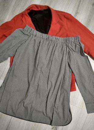Блуза на плечи papaya рубашка