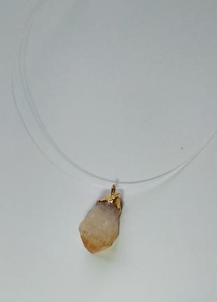 Кулон на леске натуральный камень цитрин