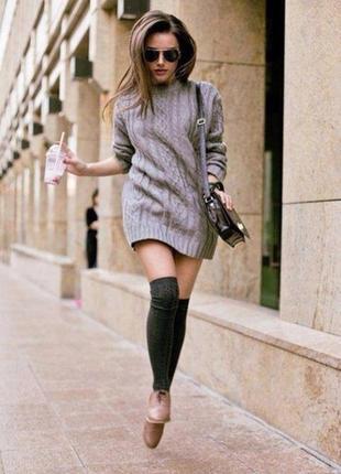 Тёплое вязаное платье ( шерсть - альпака)