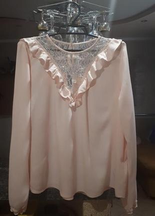 Блузка, блуза пудрового цвета