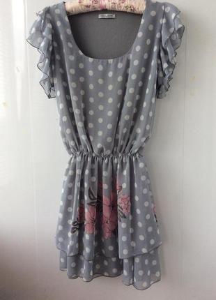 Стильный сарафан платье topshop принт горох