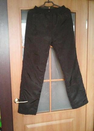 Зимние очень теплые штаны непродуваемые на флисе толстые