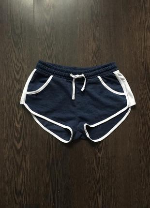 Короткие синие спортивные шорты с лампасами и много вещей по скидкам2
