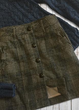Модний принт* спідниця в клітку jeans geisha