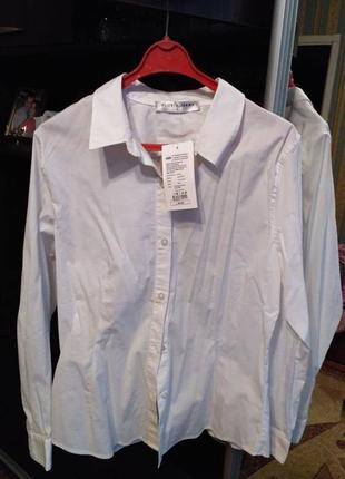 Белая женская рубашка gloria jeans